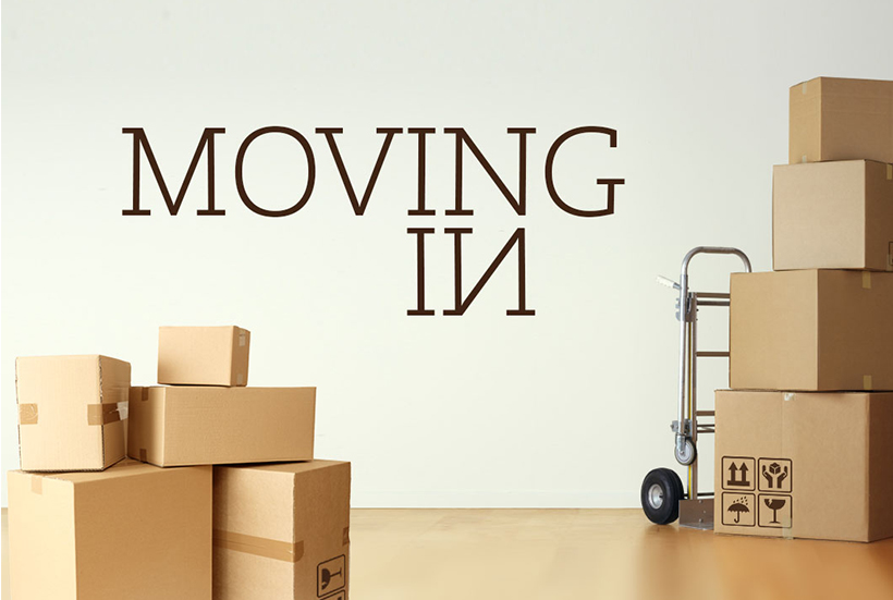 moving into new home